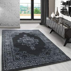 Orientteppich, kurzflor Wohnzimmerteppich, klassiker Teppich Orientalisch, GRAU, Maße:300 cm x 400 cm
