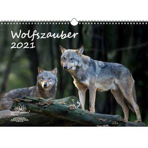 Wolfszauber DIN A3 Kalender für 2021 Wolf und Wölfe - Seelenzauber