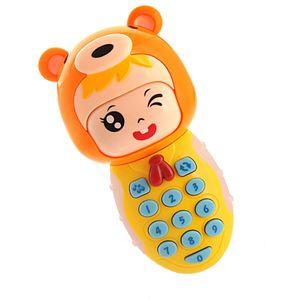 1pc pädagogisches Telefon Spielzeug Kinder Simulation Telefon Spielzeug Stimme Musik Pone Spielzeug