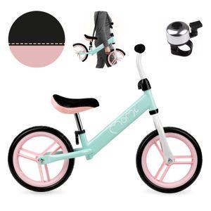 MOMI Nash Kinder Laufrad Lauflernrad Balance Fahrrad Kinderrad für Jungen und Mädchen ab 2-3 Jahre 360° drehbar Lenker Höhenverstellbar nur 2,5 kg mint rosa