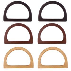3 Paar DIY Holz Taschengriffe Bogengriff für Handtasche Einkaufstasche
