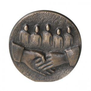 Wandrelief Danke Familie Impulse 8 cm Bronze