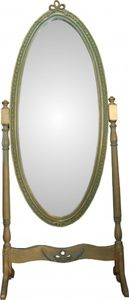 Casa Padrino Barock Standspiegel Schwenkbar Grün-Gold Antik Look - Spiegel Gold - Barock Shabby Chic Möbel