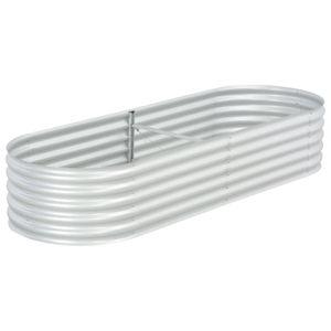dereoir Pflanzkübel Silbern 240 x 80 x 44 cm Verzinkter Stahl