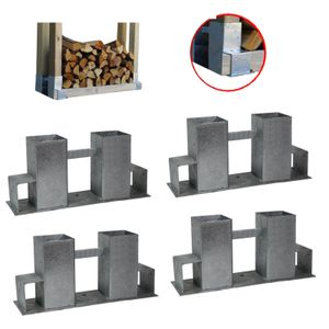 Kaminholzständer Kaminholzregal Brennholz Ablage Metall 118 cm Kaminholzhalter