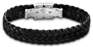 Lederarmband Lotus Herren Armband LS1206-2/1 schwarz