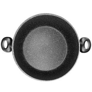 STONELINE® XXXL Kochtopf 32 cm, mit Glasdeckel