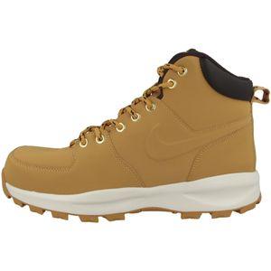 NIKE Manoa Leather Herren Echtleder-Boots Beige Schuhe, Größe:47