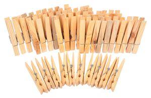 Holz-Wäscheklammern 50 Stück Holzklammer Wäscheklammer Klammern Bastelklammern
