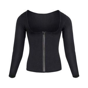 Frauen Sauna Anzug Taille Trainer Neopren Shirt für Sport Workout Korsett Heißen Körper Shaper Top Größe L