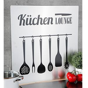 Herd-Wand-Abdeckung Spritzschutz Küchenrückwand Edelstahl B59xH56,5cm