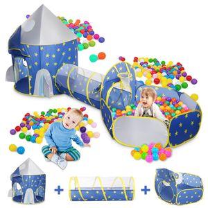 3in1 Ocean Spielzelt + Tunnel + Tasche Kinderzelt Bällebad Spielhaus Babyzelt Gaming House DE