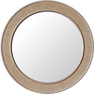 Glamour by Casa Chic Wandspiegel - 60 cm Durchmesser - Gold - Mosaik Glitzereffekt - Runde
