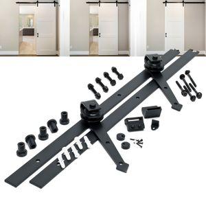 Schiebetürsystem Schiebetürbeschlag 183cm 90kg Montage Schiebetür Raumteiler