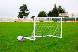"""Fußballtor - Kinder Fußballtor """"FUN"""" 120 x 80cm - aus uPVC - WETTERFEST - Mit Klicksystem und Zubehör"""