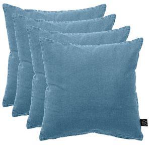 4er Set Palettenkissen Polsterkissen Zierkissen 45x45cm Ombre Blue