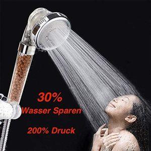 RHP Handbrause Druck Wasserspar Duschkopf Lonic Filtration Universal Duschbrause wassersparend, Hochdruck-Duschkopf für Badezimmer