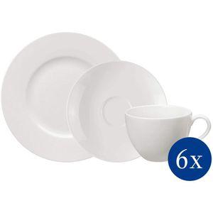 VILLEROY & BOCH 18tlg. Basic White Kaffeeset Porzellan Kaffeeservice Service