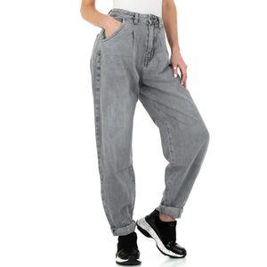 Ital-Design Damen Jeans Boyfriend Jeans Grau Gr.m/38