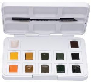 ROYAL TALENS Aquarellfarbe Van Gogh 12er Box Naturfarben