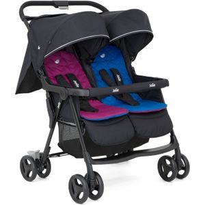 Joie Aire Twin Zwillingsbuggy - Kollektion 2019, Farbe:Rosy & Sea