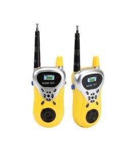 2pcs Kinder Walkie Talkie Outdoor Interphone Intercom elektronisches Spielzeug - gelb