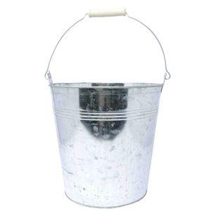 Metalleimer Pflanzschale silber Zink ca. Maße (H/B/T) : 24,5x24x24 cm