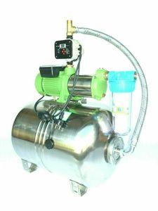 CHM GmbH Hauswasserwerk Edelstahl 1500 Watt, 6,5 Bar + el. einstellbare Pumpensteuerung/Trockenlaufschutz