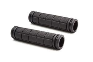 vhbw Lenkergriffe, Fahrradgriffe, schwarz, 23mm passend für Fahrrad