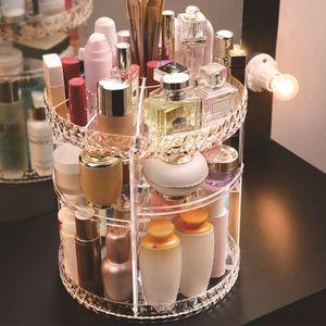 3-lagig Makeup Organizer, 360 Grad rotierender Makeup Pinsel Aufbewahrungshalter Große Kapazität