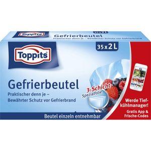 Toppits Gefrierbeutel Standboden 2l 35er