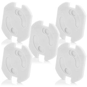 deleyCON 5x Kindersicherung für Steckdosen und Steckdosenleisten Kinderschutz Steckdosenschutz Steckdosensicherung Drehmechanik Baby Kleinkinder
