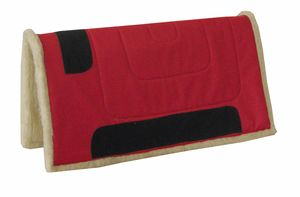 AMKA  Westernpad  Western Pad Inka mit Teddy Fleece 75 cm lang x 80 cm - mit kleinen Webfehlern, Farbe:Rot