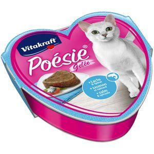 Vitakraft Katzenfutter Poesie Gelee, Lachs und Spinat 15 Schalen