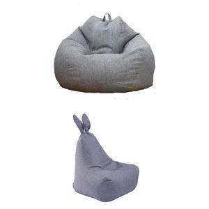 2pcs Sitzsackhülle ohne Füllung, Riesensitzsack Sitzsack Bezug Hülle aus Polyester