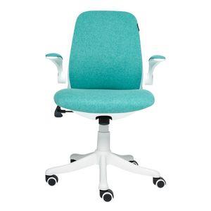 Bürostuhl Drehstuhl Ergonomischer Schreibtischstuhl Gepolsterte Armlehnen Wippfunktion Höhenverstellung Mesh, Grün