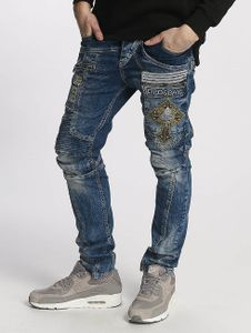 Cipo & Baxx Männer Straight Fit Jeans Fernando in blau Cipo & Baxx