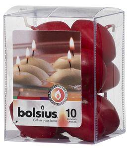 Bolsius Drijfkaarsen Wijnrood - 10 Stuks