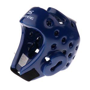 MMA Kopfschutz Boxen Kampfsport Boxtraining Kickboxen Sparring Headgear Helm Größe M Farbe Blau