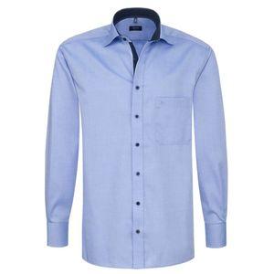 Eterna Comfort Fit Hemd Langarm Uni Oxford Mittelblau 8100/12/E137, Größe: 43