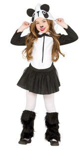 Fiestas Guirca kleid Panda Mädchen schwarz / weiß mt 140-152