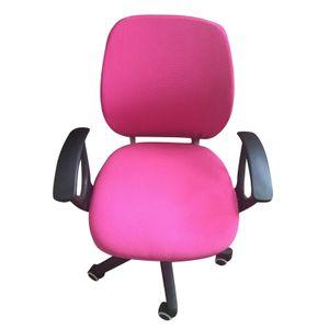 Computer-Bürostuhlbezug mit Stretchdruck, abnehmbarer, waschbarer Universal-Schreibtisch-Drehbezug, Rosa