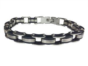 Kette Fahrradkette Armband Miniblings Gliederarmband schwarz silber M