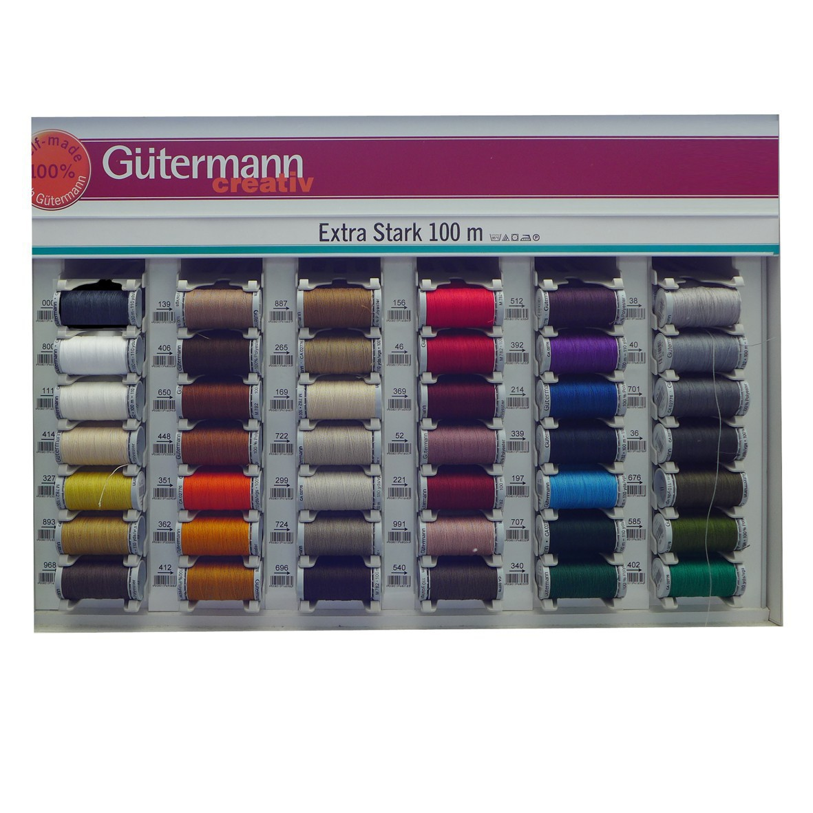 70 m x 12 Rollen mehrfarbig Polyester Einheitsgr/ö/ße Gutermann GUT/_702166-2 Stickgarn-Set