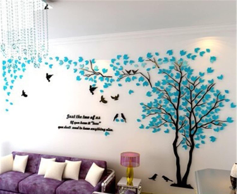 Kindergarten Treppen Babyzimmer 3D Wandaufkleber DIY Baum Wandtattoos Wandkunst Sticker Wandbilder Wanddekoration f/ür Hause Weihnachten Schlafzimmer Gr/ün Links,M Halle
