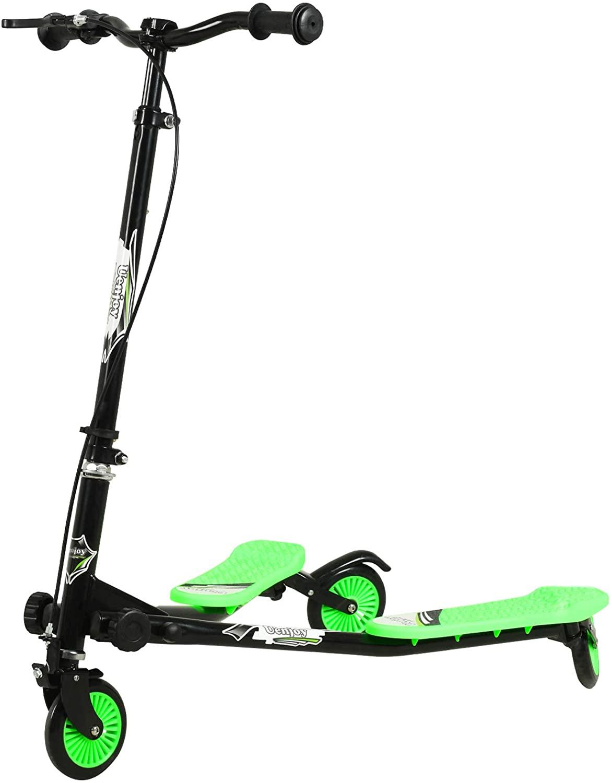 mit Sicherheitsbremse hinten Roller mit 3 h/öhenverstellbaren H/öhen 76-87 cm SOULONG Kinder-Scooter faltbar Scooter mit 3 leuchtenden R/ädern Fluo f/ür Kinder