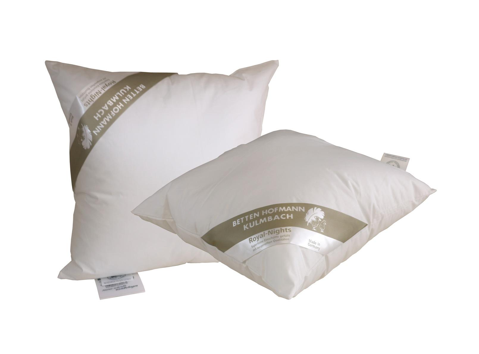 allergikergeeignet B/öhmerwald Kissen 100/% Polyester-Faserb/ällchen Wei/ß 40x40 cm