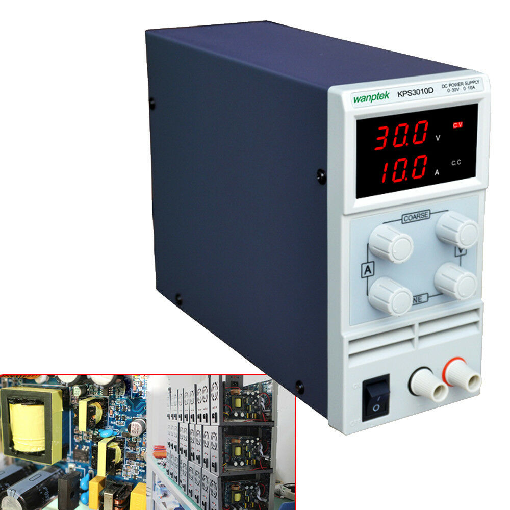 4 Digit LED Labornetzgerät Labornetzteil DC Trafo Regelbar Netzgerät 30V 10A+USB
