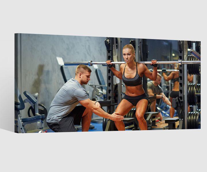 Leinwandbilder Fitness Sport Sportler Leinwand Bild Wandbild Holz 9BD295