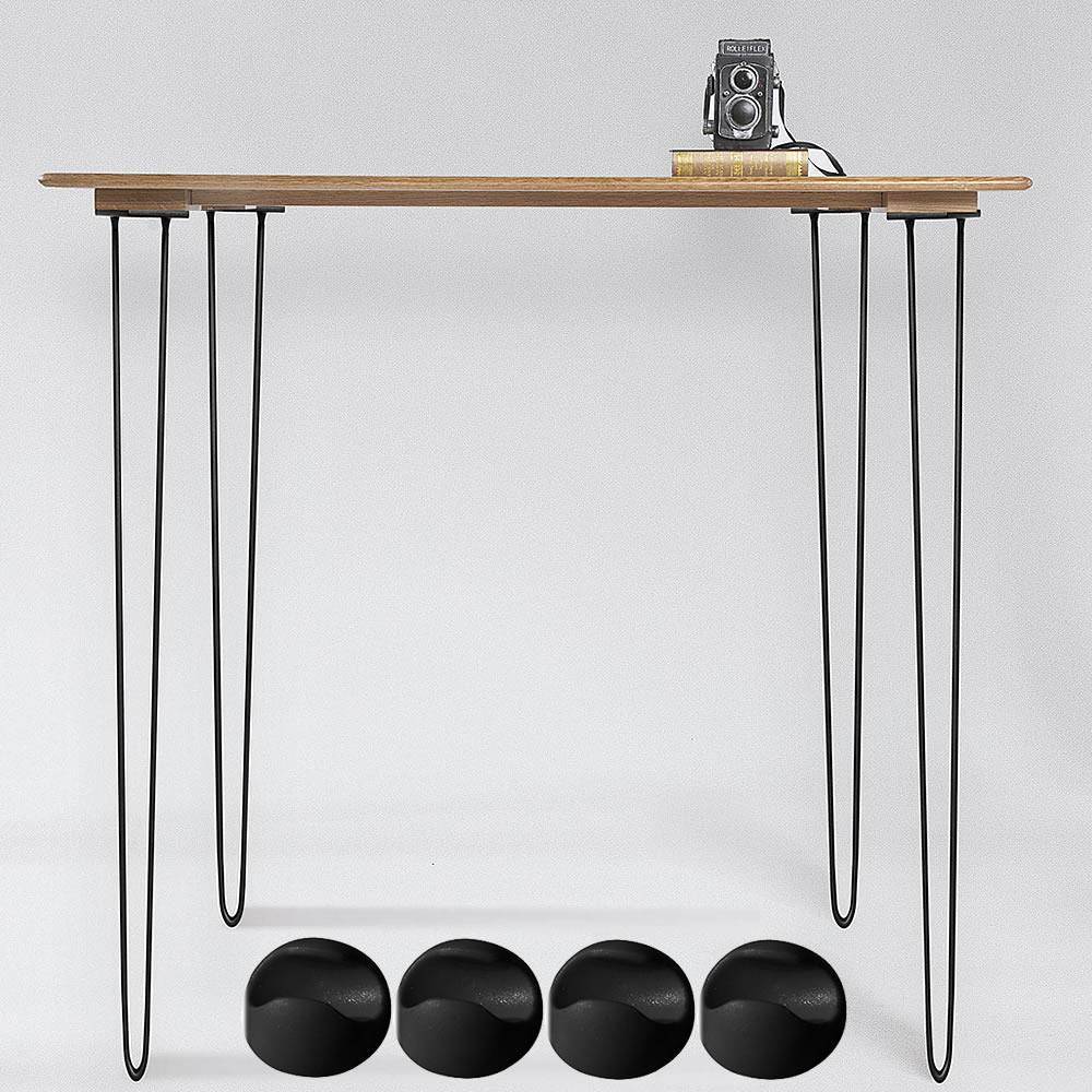 Hairpin Haarnadelbeine 4x Tischkufen Tischbeine schwarz Legs Hairpins Tisch Set